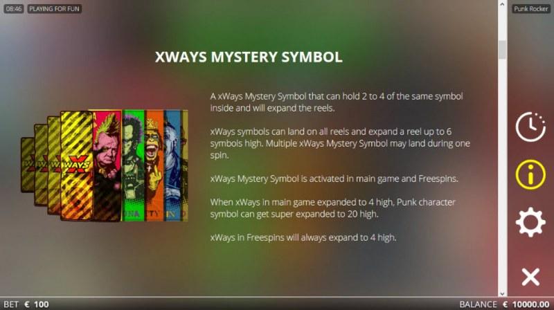 Punk Rocker No Limit :: XWAYS Mystery Symbol