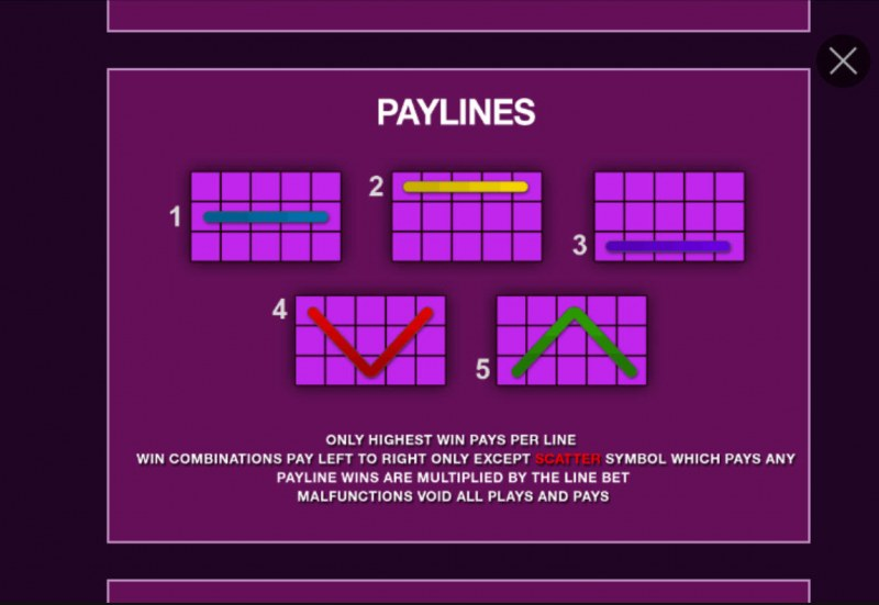 Purple Hot :: Paylines 1-5
