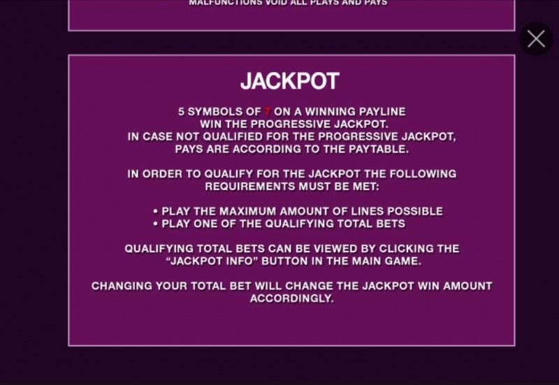Purple Hot :: Jackpot Rules