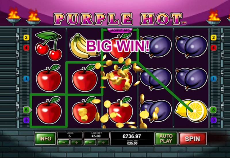Purple Hot :: Multiple winning paylines