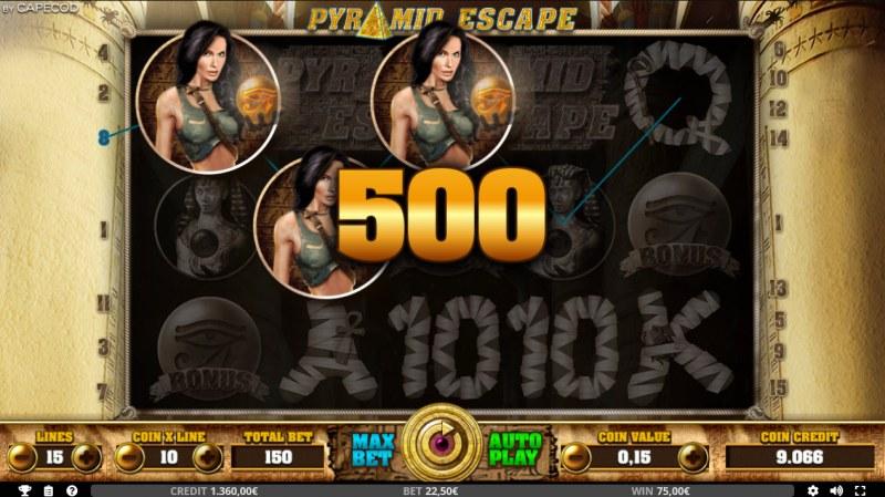 Pyramid Escape :: Three of a kind