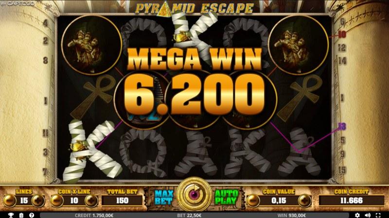 Pyramid Escape :: Mega Win