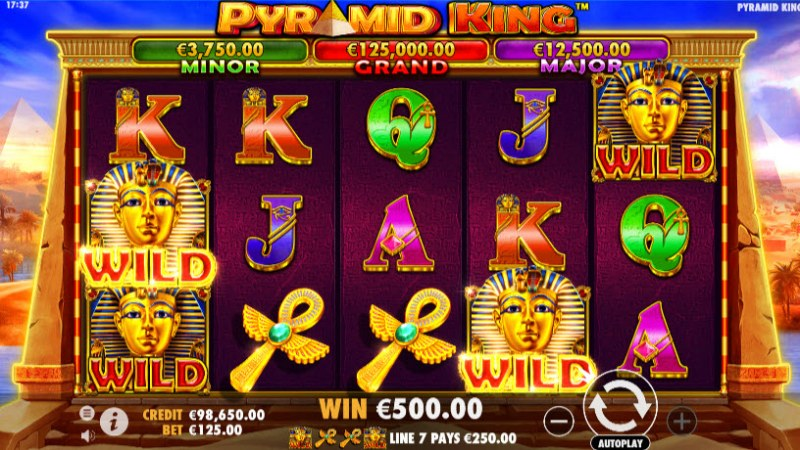 Pyramid King :: A four of a kind Win
