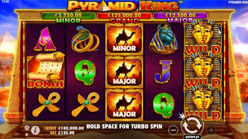 Play slots at 24 Bettle: 24 Bettle featuring the Video Slots Pyramid King with a maximum payout of $325,000