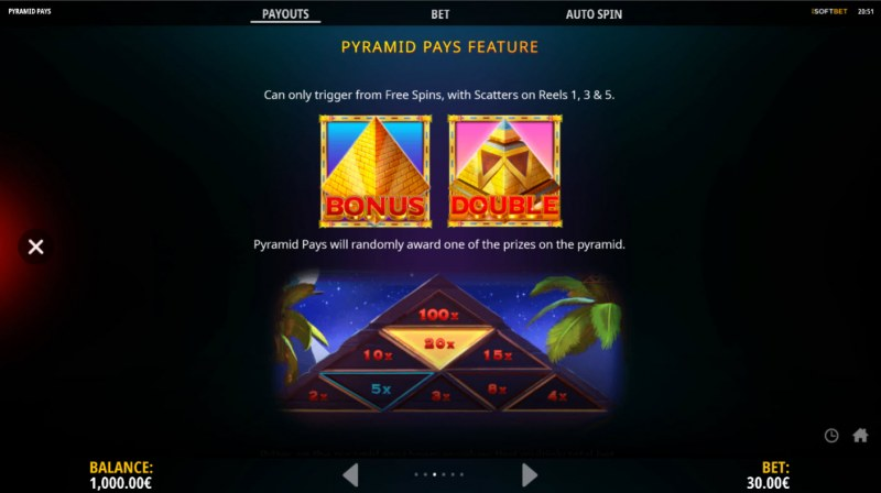 Pyramid Pays :: Feature Rules