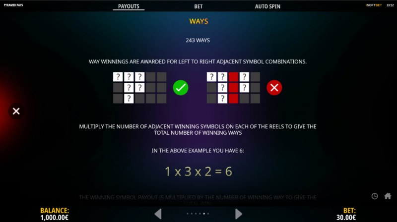 Pyramid Pays :: 243 Ways to Win