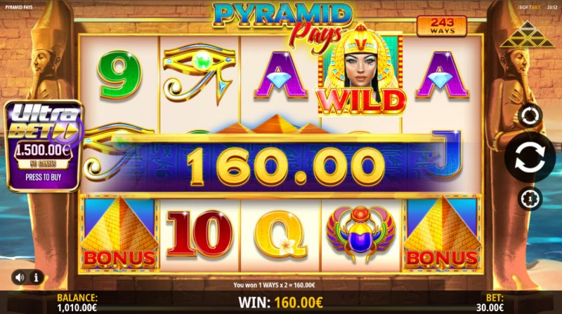 Pyramid Pays :: A four of a kind win