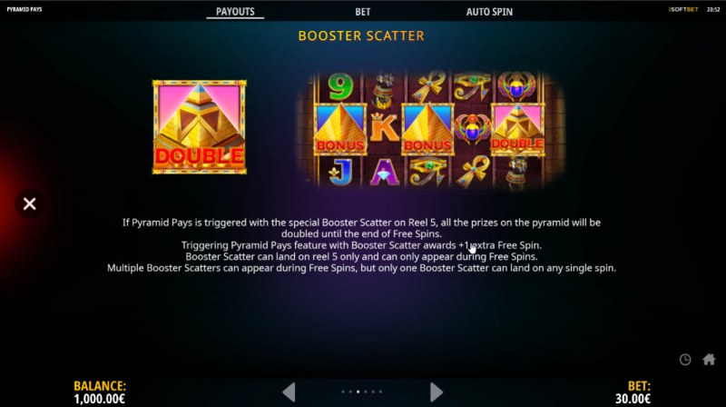 Pyramid Pays :: Booster Scatter