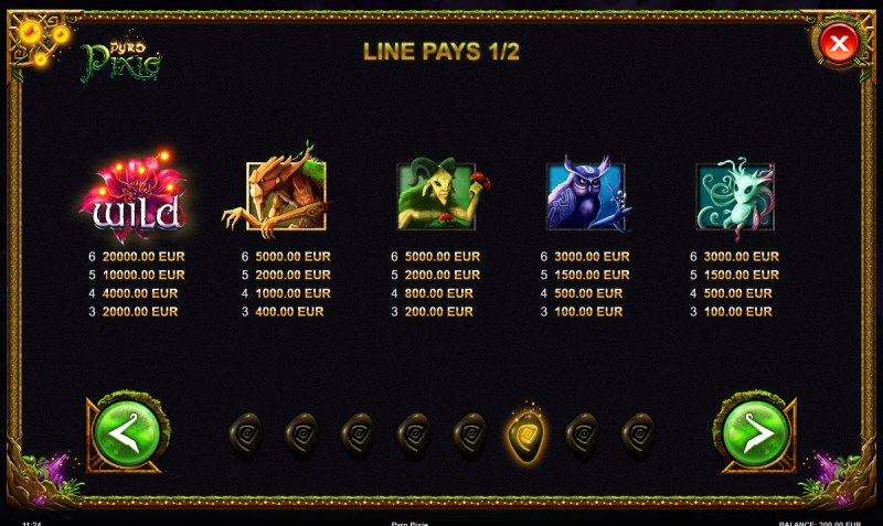 Pyro Pixie :: Paytable - High Value Symbols