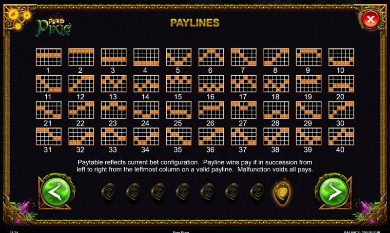 Pyro Pixie :: Paylines 1-60