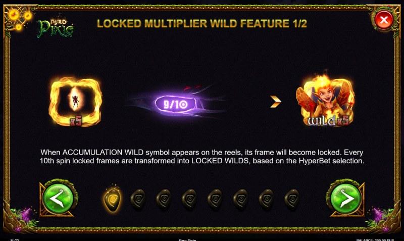 Pyro Pixie :: Locked Multiplier Wild Feature