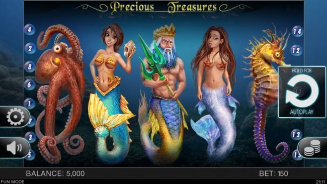 Play slots at 1X Slots: 1X Slots featuring the Video Slots Precious Treasures with a maximum payout of $15,000