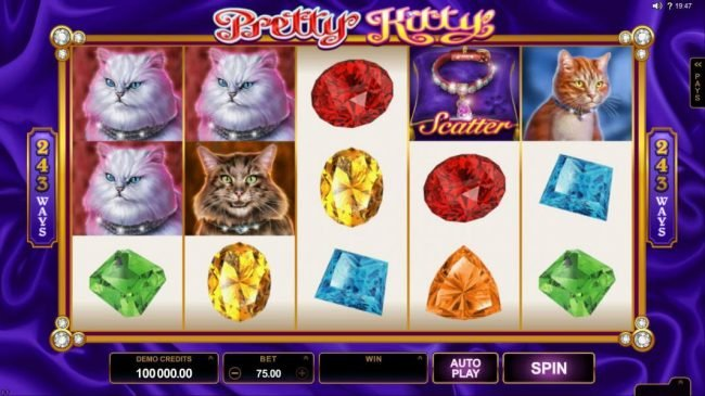 Svedala featuring the Video Slots Pretty Kitty with a maximum payout of $70,000