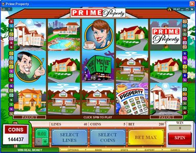 Play slots at Ladbrokes: Ladbrokes featuring the Video Slots Prime Property with a maximum payout of $15,000