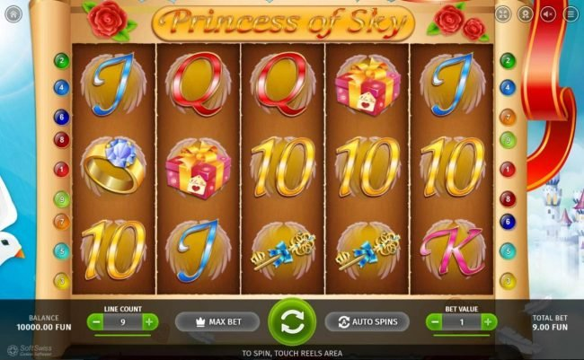 Crypto Wild featuring the Video Slots Princess Royal with a maximum payout of $9,000