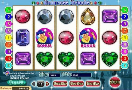 Play slots at Intertops Classic: Intertops Classic featuring the Video Slots Princess Jewels with a maximum payout of $100,000