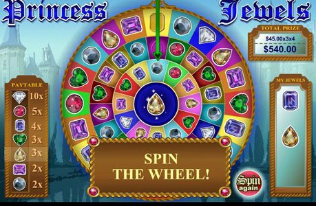 Intertops Classic featuring the Video Slots Princess Jewels with a maximum payout of $100,000