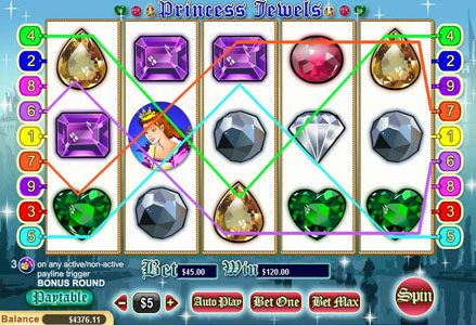 Lincoln featuring the Video Slots Princess Jewels with a maximum payout of $100,000