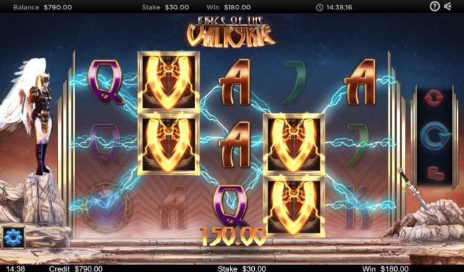 Prize of the Valkyrie :: Multiple winning paylines