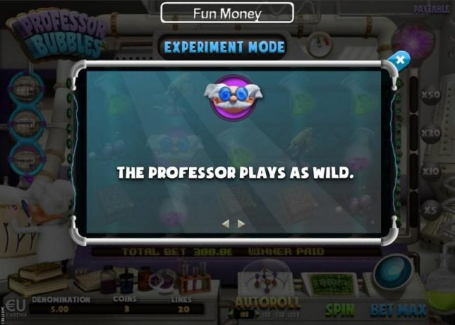 The Professor plays as wild.
