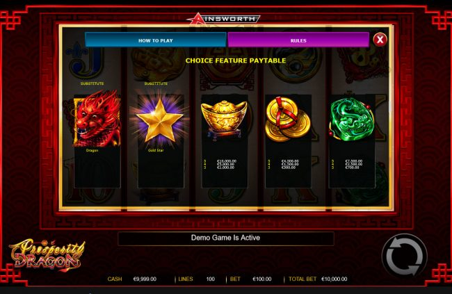 Prosperity Dragon :: Bonus Symbols