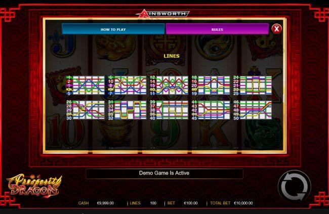 Prosperity Dragon :: Paylines