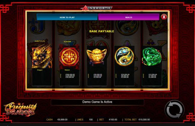 Prosperity Dragon :: High Value Symbols