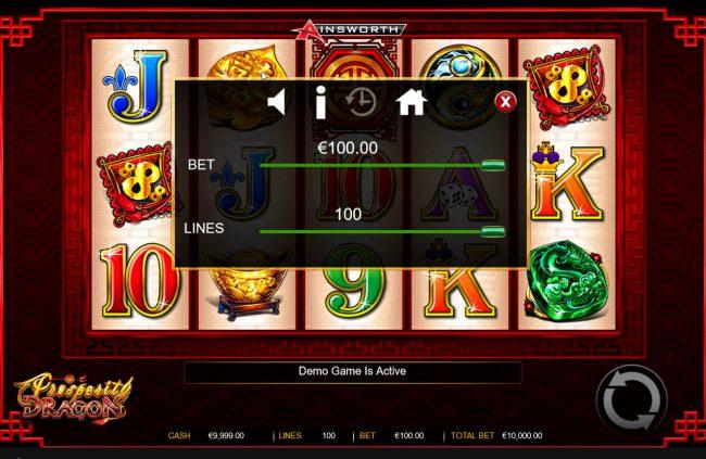 Prosperity Dragon :: Betting Options