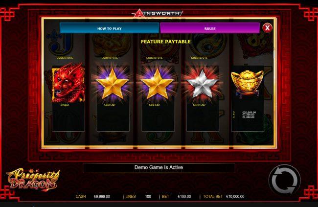 Prosperity Dragon :: Free Spins - High Value Symbols