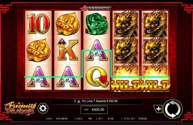 Prosperity Dragon :: A winning five of a kind