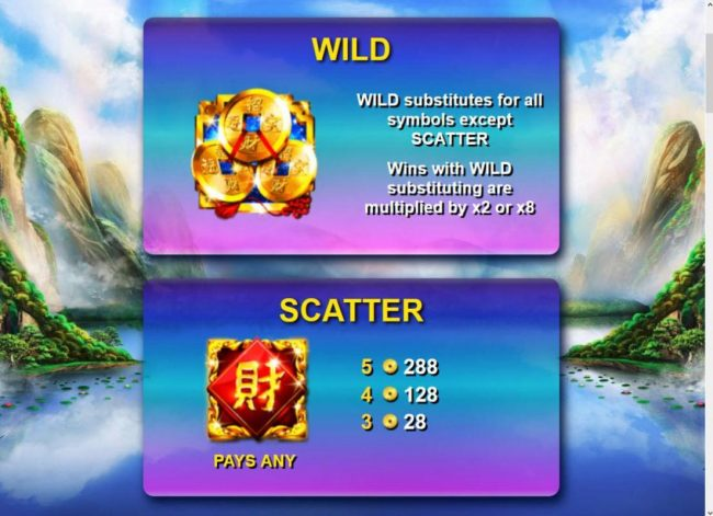 Wild and Scatter symbol rules and pays.