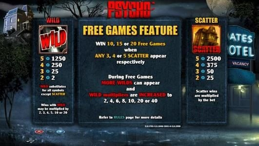 Play slots at 6 Black: 6 Black featuring the Video Slots Psycho with a maximum payout of $5,000