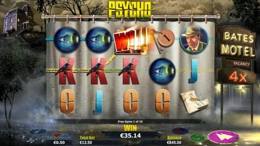 multiple winning paylines combine with a 4x wild for a big winning jackpot