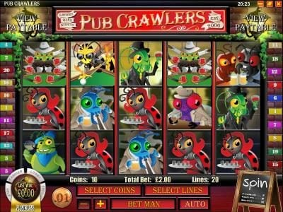 Planet Kings featuring the Video Slots Pub Crawlers with a maximum payout of $5,000