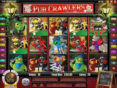 Supreme Play featuring the Video Slots Pub Crawlers with a maximum payout of $5,000