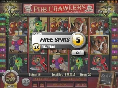 Play slots at Winbig21: Winbig21 featuring the Video Slots Pub Crawlers with a maximum payout of $5,000