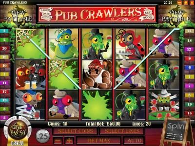 Ruby Royal featuring the Video Slots Pub Crawlers with a maximum payout of $5,000