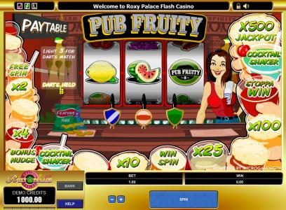 Play slots at Phoenician: Phoenician featuring the Video Slots Pub Fruity with a maximum payout of $2,500