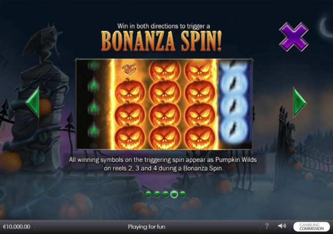 Vegas Red featuring the Video Slots Pumpkin Bonanza with a maximum payout of $500,000