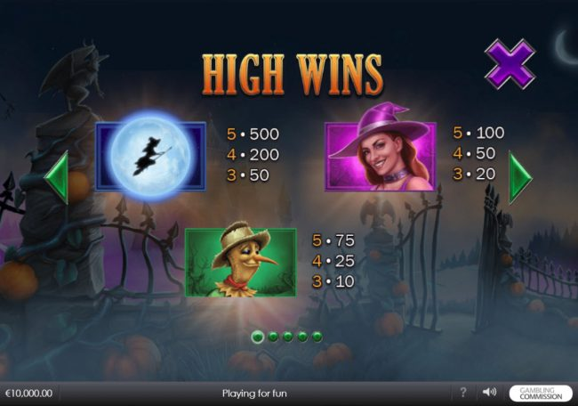 Swiss Casino featuring the Video Slots Pumpkin Bonanza with a maximum payout of $500,000