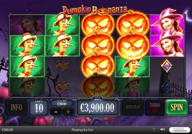 LesA Casino featuring the Video Slots Pumpkin Bonanza with a maximum payout of $500,000