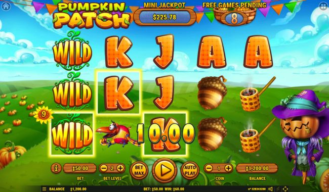 Pumpkin Patch :: Stacked reels triggers multiple winning combinations