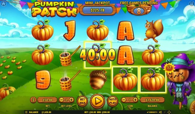 Pumpkin Patch :: Game pays in both directions