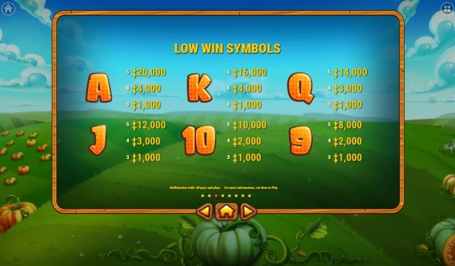 King Billy featuring the Video Slots Pumpkin Patch with a maximum payout of $200,000