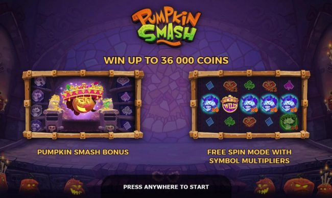 Play slots at Boaboa: Boaboa featuring the Video Slots Pumpkin Smash with a maximum payout of $87,500