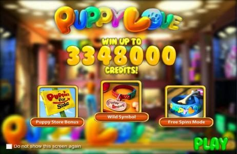 Unique Casino featuring the Video Slots Puppy Love with a maximum payout of $25,000