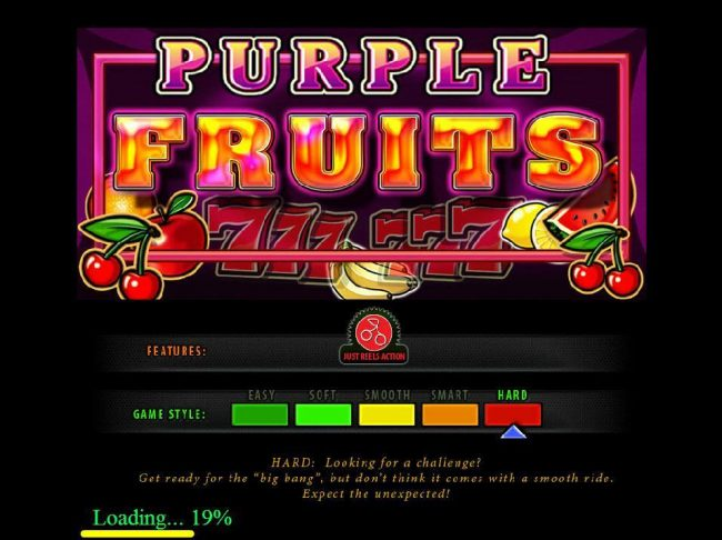 ZigZag777 featuring the Video Slots Purple Fruits with a maximum payout of $500,000