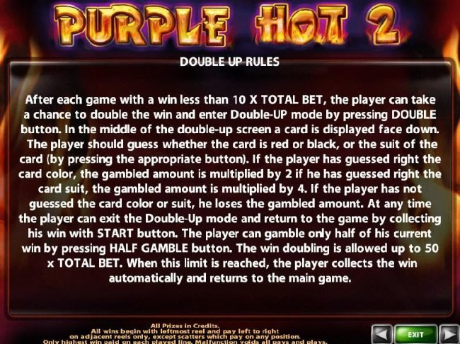 Argo featuring the Video Slots Purple Hot 2 with a maximum payout of $100,000