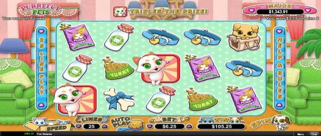 High Noon featuring the Video Slots Purrfect Pets with a maximum payout of $12,500