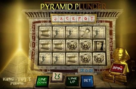 Crypto Slots featuring the Video Slots Pyramid Plunder with a maximum payout of $4,000